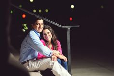 engagement pictures at night in Houston   photo by Kreative Angle Photography