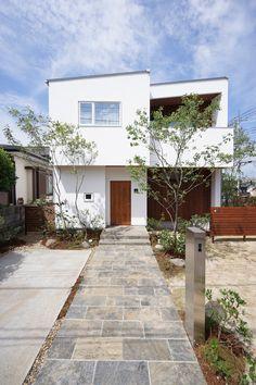 68 Ideas For Design Home Exterior Entrance Dry Garden, Indoor Garden, Classical Architecture, Architecture Design, Pretty Room, Japanese House, Facade House, White Houses, Exterior Design