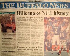 I lived to see this. Buffalo, New York I was with The Buffalo news when this happen. I was working for them Houston Texans Football, Houston Oilers, Buffalo News, Buffalo New York, Buffalo Bills Football, Nfl History, Literature Books, Good Neighbor, Niagara Falls