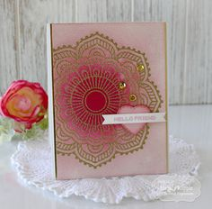 Taylored Expressions December Sneak Peeks Day 3 - Mandalas Handmade cards Friend Watercolor #tayloredexpressions