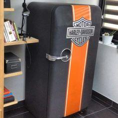 Frigo ancien frigidaire vintage fridge Harley davidson knuckelhead forty eight custom https://www.facebook.com/stebby.workshop