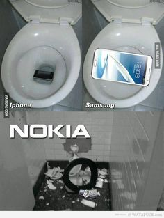 Iphone,Samsung VS Nokia jajaj