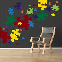 Puzzle Piece Wall Decals Puzzle Piece Wall Mural by PrimeDecal