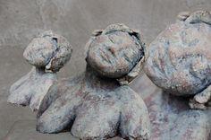 Marianne van den Berg, Adonia, ceramic patinated 15 x 19 x 12cm