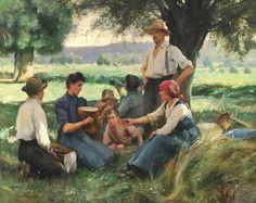 Le monde paysan dans les rêves. Sens Signification -©Julien Dupré - 1851-1910
