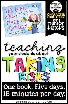 Social emotional learning - Taking Risks Character Education Social Emotional Learning SEL – Social emotional learning Elementary School Counseling, School Counselor, Elementary Schools, Career Counseling, Teaching Social Skills, Social Emotional Learning, Teaching Kids, Character Education Lessons, Teaching Character