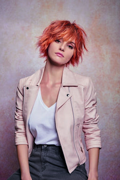 A Short red hairstyle From the ROCK & Summer Collection Spring/Summer 2019 Colle. A Short red hairstyle From the ROCK & Summer Collection Spring/Summer 2019 Collection by Mon Coiffeur Exclusif