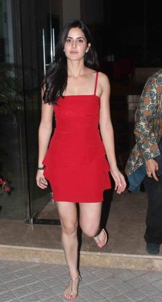 Katrina Kaif Cute Photos In Red dress More