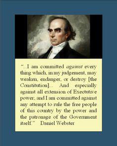Daniel Webster  So timely!
