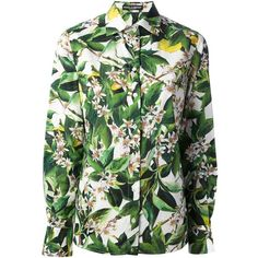 DOLCE & GABBANA floral print shirt (1,625 SAR) ❤ liked on Polyvore featuring tops, blouses/shirts, dolce & gabbana, shirts, shirts & tops, floral collared shirt, green floral top, green top and dolce gabbana shirt