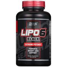 Nutrex Research LIPO6 Black Extreme Potency Weight Loss Support Dietary Supplement * Visit the image link more details.