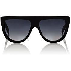 Céline Women's Aviator Sunglasses (1205 TND) ❤ liked on Polyvore featuring accessories, eyewear, sunglasses, black, oversized aviators, oversized aviator glasses, oversized sunglasses, retro style sunglasses and oversized retro sunglasses