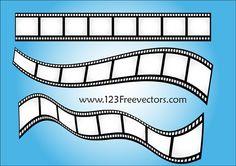 Vector Film Strip-2 Free Vector / 4Vector