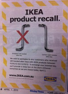 Oh no! All of my allen wrenches have been recalled!!