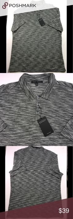 """Robert Barakett Men's XXL Cotton Polo 👕 Shirt NWT ROBERT BARAKETT Men's XXL Cotton Trent Gray Polo Shirt New with Tags MSRP $89  Measurements are approximately:  Chest - 50"""" Arm pit to arm pit - 25"""" Long - 33""""  If you have any questions, please ask and I will answer as soon as possible.  If you purchase the item and there is a problem, please contact me immediately. I do my best work with you to correct it in a timely manner.  Happy shopping!! Robert Barakett Shirts Polos"""