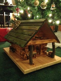 Evergreen Cottage Birdhouse