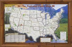National Parks Traveler Map