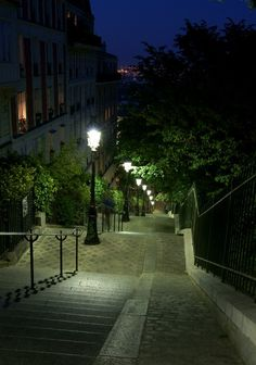 Street of Montmartre, Paris.