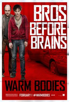 Warm Bodies. The movie does not fully reflect how intelligent, funny and insightful the written novel is! I like the actors, just wish the story were closer to the novel.
