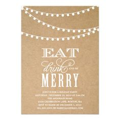 STRING LIGHTS | HOLIDAY PARTY INVITATION #fineanddandypaperie