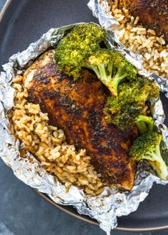 Chicken, rice, and broccoli all done in one delicious foil packet for a healthy and flavor-packed dinner! Chicken, rice, and broccoli all done in one delicious foil packet for a healthy and flavor-packed dinner! Chicken Broccoli, Chicken Rice, Creamy Chicken, Grilled Chicken, Crusted Chicken, Stuffed Chicken, Lime Chicken, Garlic Chicken, Butter Chicken