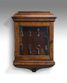 Antique key cabinet