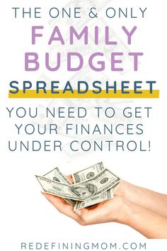 Manage your families finances in as little as 30 minutes every month with this easy budget and financial planning spreadsheet for busy families! Monthly Budget Planner, Excel Budget, Budget Spreadsheet, Money Budget, Making A Budget, Create A Budget, Living On A Budget, Family Budget, Frugal Living