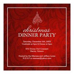 Christmas Party Invitations.  $2.65