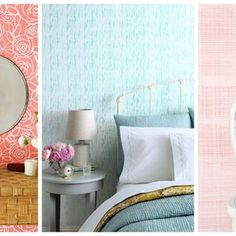 Rich hues and soft pastels lend a calming feeling to these spaces. Paint your room one of these relaxing, calming colors. Calming Paint Colors, Interior Paint Colors, Interior Walls, Paint Colours, Interior Design, Green Painted Walls, Yellow Walls, Painted Floors, Blue Green Paints