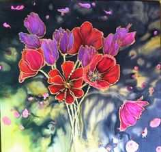 Forevermore Print of Silk Painting by artbychristylynn on Etsy, $130.00