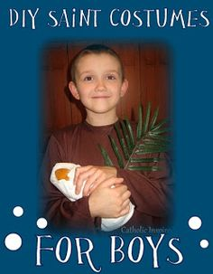 Saint Costumes for boys & girls. Great ideas for All Saints Day party | Catholic Inspired