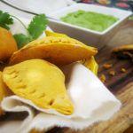 Lentil, Kale & Sweet Potato Empanadas with Creamy Chimichurri Sauce (Vegan, Gluten-free)