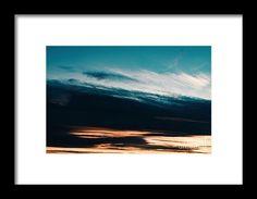 Beautiful Orange And Blue Summer Sunset Sky Framed Print