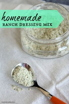 Homemade Ranch Dressing Mix: Forget those salt-laden envelopes. Homemade Ranch Dressing Mix is a snap to make, saves you money and tastes so much better! No Sodium Foods, Low Sodium Recipes, Low Sodium Snacks, Low Salt Recipes, Homemade Spices, Homemade Seasonings, Barbacoa, Homemade Ranch Dressing Mix, Do It Yourself Food