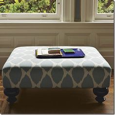 West Elm Ottoman Look Alike + make your own Annie Sloan Chalk Paint | **MegMade**