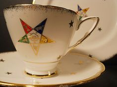 Royal Stafford Set Order of the Eastern Star Tea by Anniesoddities, $45.00