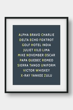 NATO Phonetic Alphabet, Aviation Decor, Pilot Gift, Boys Room Decor, Gift For Him, Morse Code, Military Decor  26 code words assigned to the 26 letters of the English alphabet. Ideal for pilots, future pilots or aviation enthusiasts. Aviation Art for your home or your office. #phoneticalphabet #alphabet #pilotgift #aviationdecor #kidsroomdecor #giftforhim #boysroomdecor  #militarydecor Printable Bible Verses, Printable Art, Nato Phonetic Alphabet, Aviation Decor, Bunny Nursery, Pilot Gifts, Camera Art, Affordable Wall Art, Bible Verse Art