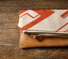 TRIBAL CLUTCH. Boho Pouch. Foldover Clutch. Leather Pouch. Change Pouch. Makeup Bag.. $42.00, via Etsy.
