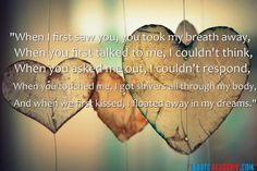 """When I first saw You..."" True Love Quotes... Find Out More Quotes at www.quoteacademy.com"