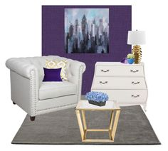 """Purple, Blue, and Gold"" by smilepapersdecor ❤ liked on Polyvore featuring interior, interiors, interior design, home, home decor, interior decorating, &Tradition and Élitis"