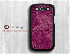 Galaxy S3 i9300 Case  Samsung cases Galaxy SIII unique Case Samsung Case  classic purple flowers design. $14.99, via Etsy.