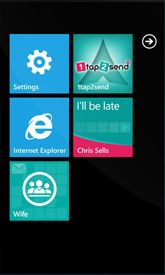 1tap2send app for Windows Phone www.1tap2send.com Windows Phone, Mobile App, Messages, Text Conversations