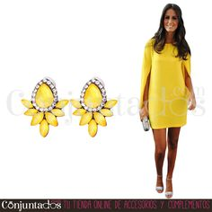 Pendientes Nadine amarillos ★ 12'95 € en https://www.conjuntados.com/es/pendientes/pendientes-nadine-amarillos.html ★ #novedades #pendientes #earrings #conjuntados #conjuntada #joyitas #lowcost #jewelry #bisutería #bijoux #accesorios #complementos #moda #eventos #bodas #invitadaperfecta #perfectguest #party #fashion #fashionadicct #picoftheday #outfit #estilo #style #GustosParaTodas #ParaTodosLosGustos
