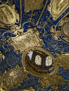 Ceiling at the Residenz Museum in Munich /// More on Interiorator.com