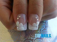 Acrylic Nails French for brides by TopnailsChile - Nail Art Gallery nailartgallery.nailsmag.com by Nails Magazine www.nailsmag.com #nailart