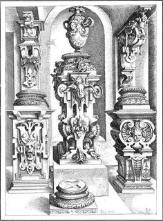 uchitelj: Орнамент маньеризма в гравюрах немецких художников Wendel Dietterlin и Virgil Solis