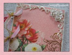 Premade Chipboard Mini Album Pages 8 by 8 size Mothers Day Shabby Chic,  READY TO SHIP........ $45.00, via Etsy.