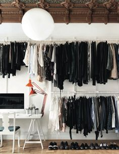 FEEL INSPIRED: MALMÖ APARTMENT. How to: organize your whole life int one room. And show off those shoes!