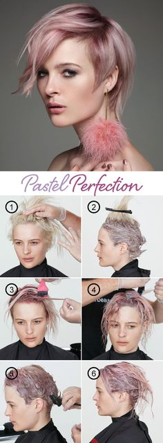 How to get Pastel Pink Perfection - Hair Color - Modern Salon Pink Short Hair, Pastel Pink Hair, Hair Fair, Hair Color Techniques, Fantasy Hair, Hair Dye Colors, Hair Brained, Hair Today, Hair Looks