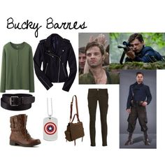 Outfit inspired by the character Bucky Barnes from the Marvel film Captain America: The First Avenger Marvel Fashion, Superhero Fashion, Geek Fashion, Disney Fashion, Marvel Inspired Outfits, Character Inspired Outfits, Disneybound Outfits, Disney Outfits, Casual Cosplay